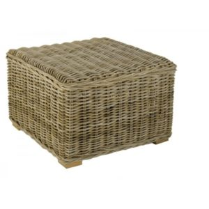 Hocker in Grey rotan