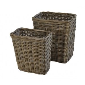 Vensterbankmand in Grey rotan