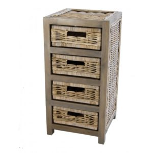 Kast Java smal in Grey rotan
