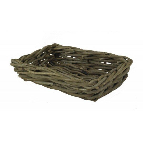 Broodschaaltje rechthoek in Grey rotan
