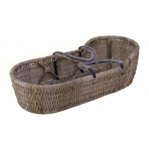Babywieg Emma in Split Grey rotan