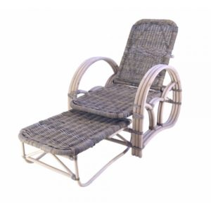 Rotan Ligstoel Norman in Grey rotan
