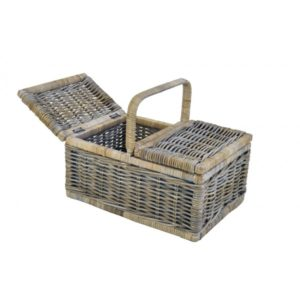 Picknickmand Wesley in Grey rotan