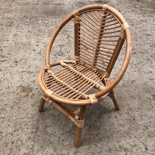 Retro Rotan Kinderstoeltje.Kinderstoel Julia